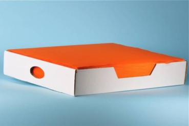 "Tischset ""Prima"" 1-lagig, orange, 100% Recycling, 39 x 29 cm"
